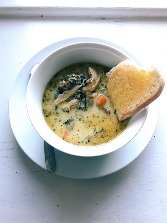 Stovetop Chicken and Mushroom Wild Rice Soup
