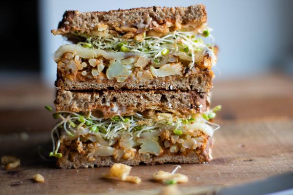 Spicy Cauliflower Sandwich
