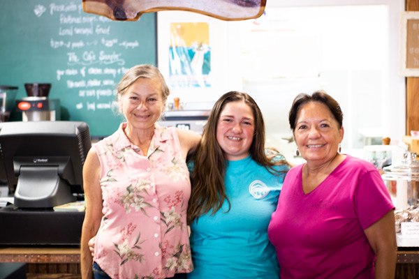 Wendy, Jackie, and Kareen - the ladies behind Thyme & Tide Cafe in Jarvisburg, NC.