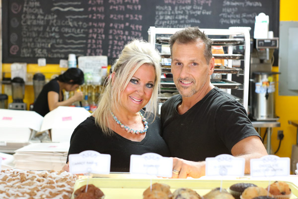 The owners of Tullio's Bakery in their kitchen