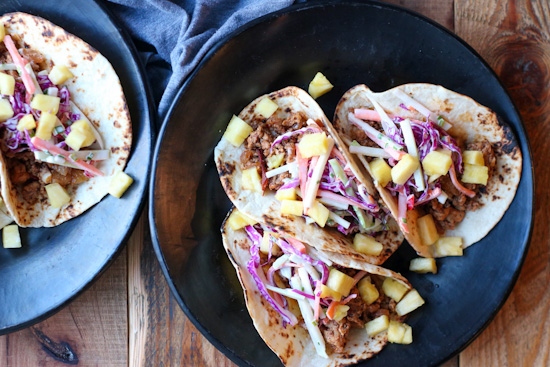 Spicy Chicken and Pineapple Tacos