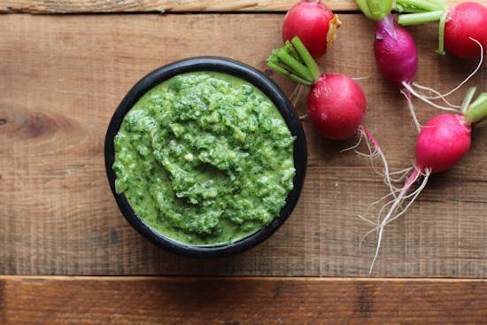 Radish Greens Salsa