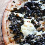 Garlicky White Pizza with Kale and Mushrooms