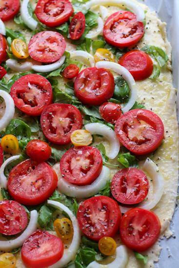 Fresh Tomato Basil Tart before baking