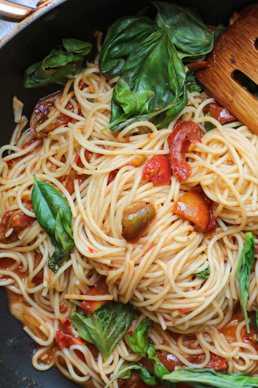 Pasta with Fresh Tomato Butter Sauce
