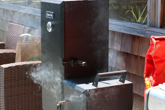 a dynaglow smoker in action