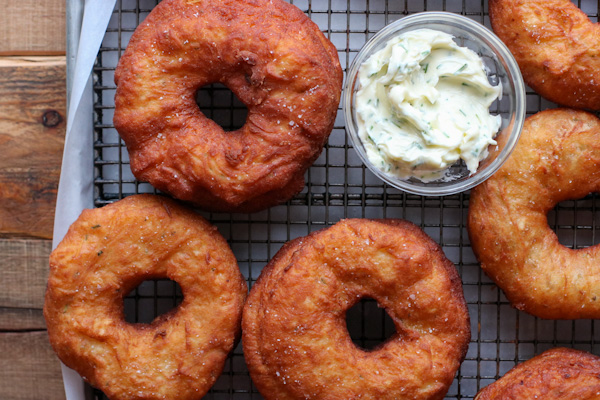 Rosemary Onion Donuts