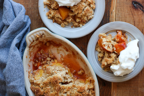 Brown Sugar Peach Crumble