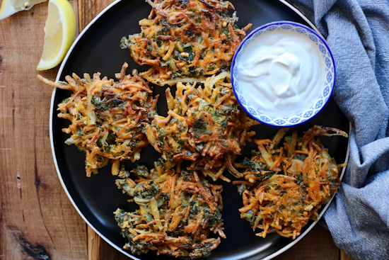 Sweet Potato Collard Green Fritters