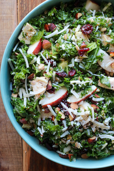 giant dinner salad in a bowl
