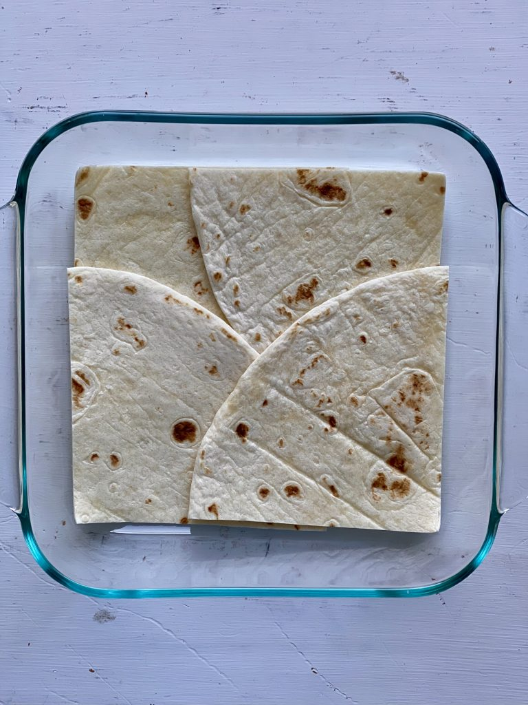 flour tortillas in dish
